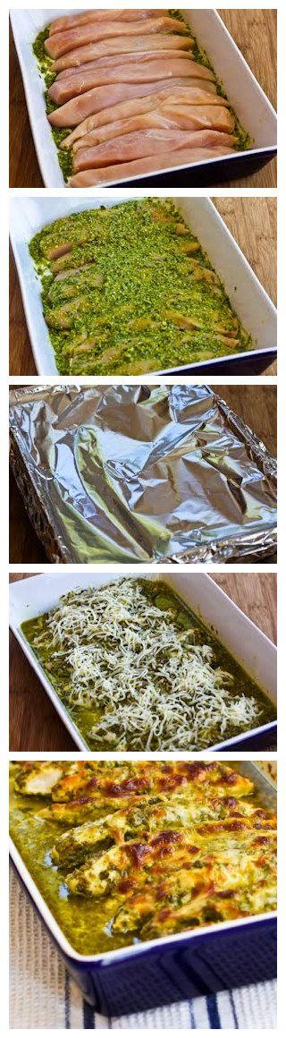 Baked Chicken Pesto