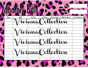 Monthly bills orgCopy