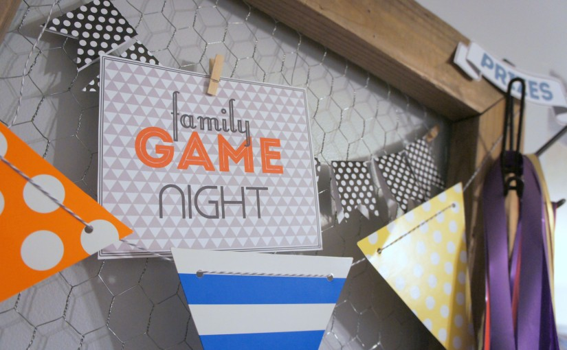 Family Game Night {and some free printables}