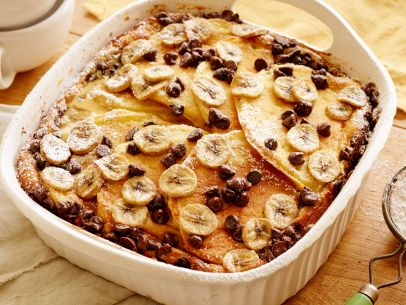 Bananas mommyspinterest chocolate banana pancake breakfast casserole recipe food network kitchen food network forumfinder Images